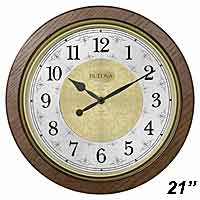 Bulova C4115 Manchester Chiming Wall Clock