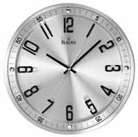 Bulova C4646 Silhouette Contemporary Wall Clock