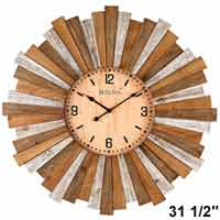 Bulova C4802 Sunburst Large Wall Clock