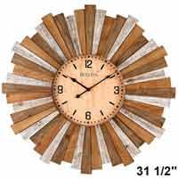 Bulova C4802 Sunburst Large Wall Clock