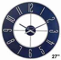 Bulova C4809 Blue Steel Large Wall Clock