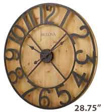 Bulova C4814AP Barnboard Large Wall Clock