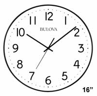 Bulova C4832 Office Mate Auto-Set Wall Clock