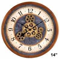 Bulova C4835 Gears in Motion Wall Clock