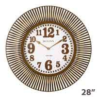 Bulova C4843 Sunburst Wall Clock