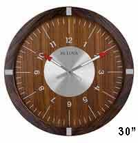 Bulova C4874 Aerojet Wall Clock