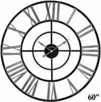 Bulova Zeeland C4877 Oversized 5 ft Wall Clock
