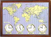 Rhythm CMW902NR06 Clocks Around The World - Time Zone Clock