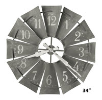 Howard Miller Windmill 625-671 Large Wall Clock