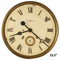 Howard Miller Custer 625-731 Large Rustic Wall Clock