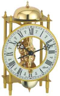 Hermle Archway 23015 740721 Keywound Skeleton Mantel Clock