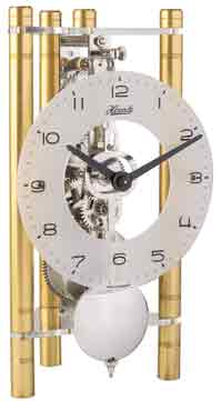 Hermle Lakin 23025-500721 Keywound Table Clock in Gold