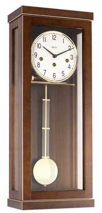 Hermle Carrington 70989-030341 Walnut Keywound Wall Clock