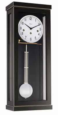 Hermle Carrington 740341 Keywound Wall Clock in Black