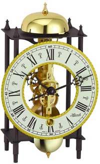Hermle Kehl 23003-000711 Skeleton Mantle Clock in Black