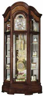 Howard Miller Majestic II 610-939 Curio Grandfather Clock