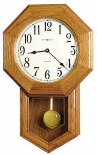 Howard Miller Elliott Model 625-242 Chiming School House Wall Clock