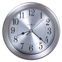 Contemporary wall clocks and modern wall clocks the clock depot - Large brushed nickel wall clock ...