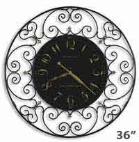 Howard Miller Joline 625-367 Scrolled Iron Wall Clock