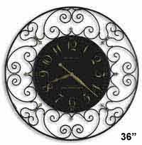 Howard Miller Joline 625-367 Scrolled Iron Wall Clock