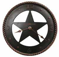 Howard Miller Maverick 625-445 Texas Star Wall Clock