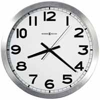 Howard Miller Spokane 625-450 Brushed Silvertone Wall Clock