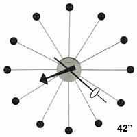 Howard Miller Ball Clock 625-527 42 Inch George Nelson Clock