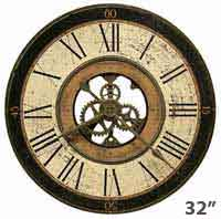Howard Miller Brass Works 625-542 Large Wall Clock
