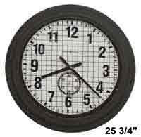 Howard Miller Grid Iron Works 625-625 Large Wall Clock