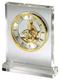 Howard Miller Prestige 645-682 Glass Table Clock