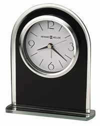 Howard Miller Ebony Luster 645-702 Black Table Clock