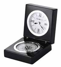 Howard Miller Endeavor 645-743 Polished Black Desk Clock