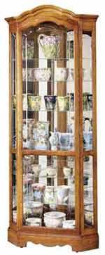 Howard Miller Jamestown II 680-250 Oak Corner Curio Cabinet