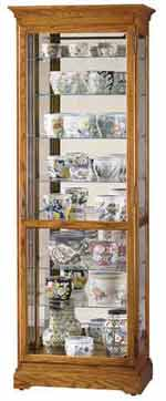 Howard Miller Chesterfield II 680-288 Oak Curio Cabinet
