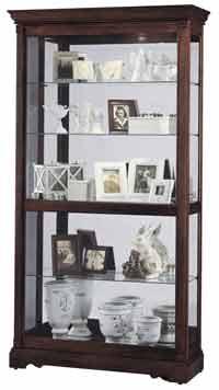 Howard Miller Dublin 680-337 Cherry Curio Cabinet