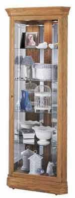 Howard Miller Hammond 680-347 Oak Corner Curio Cabinet