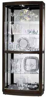 Howard Miller Bradington 680-395 Curved Glass Curio Cabinet