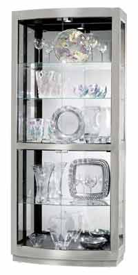 Howard Miller Bradington II 680-396 Nickel Finish Curio Cabinet