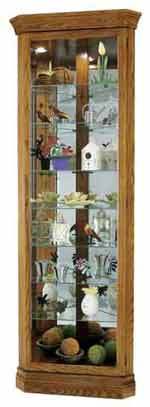 Howard Miller Dominic 680-485 Oak Corner Curio Cabinet