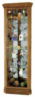 Howard Miller Dominic 680-485 Oak Corner Curio Cabinet