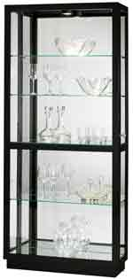 Howard Miller Jayden III 680-572 Polished Black Curio Cabinet