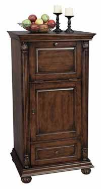 Howard Miller Cognac 695-078 Hide-A-Bar Living Room Wine Cabinet