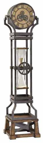 Howard Miller Ironworks 615-074 Quartz Floor Clock
