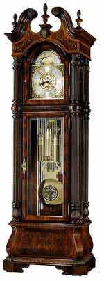 Howard Miller J.H. Miller II 611-031 Tubular Chime Grandfather Clock