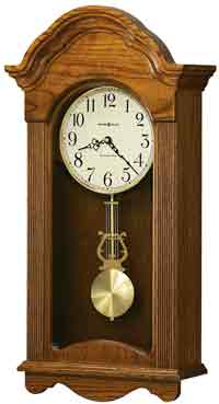 Howard Miller Jayla 625-467 Quartz Oak Chiming Wall Clock