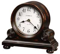 Howard Miller Murray 635-150 Worn Black Triple Chime Mantel Clock