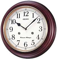 Seiko QXH202ZLH Parson Chiming Traditional Wall Clock