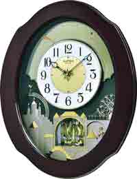 Rhythm 4MH426WU06 Grand Timecracker Musical Motion Clock