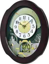 Rhythm 4MH426WU06 Grand Timecracker Musical Motion Clock