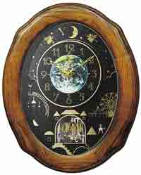 Rhythm 4MH438WU06 Timecracker Moonlight Magic Motion Clock